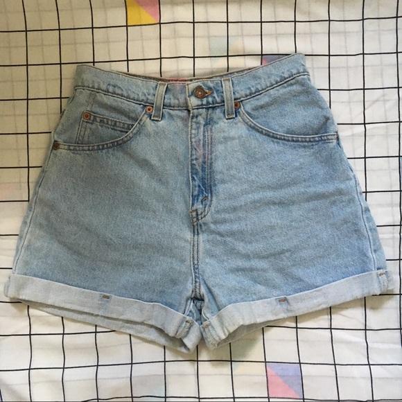 Levi's Pants - Vintage Levi's orange tab jean shorts